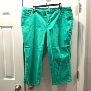 Style & Co Mint Cropped Jeans